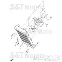 03 Chladič / Ventilátor - Hyosung ST 700i