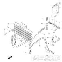 03 Olejový chladič - Hyosung GT 125 R E3