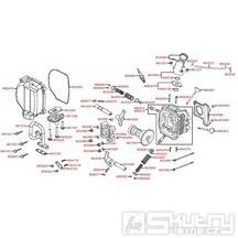 E02 Hlava válce / Ventily - Kymco Vitality 50 4T
