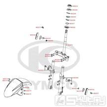 F06 Tyč řízení / Přední blatník - Kymco DJ 125 S KN25GA