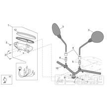 28.13 Tachometr, řidítka, zrcátka - Scarabeo 50 4T 4V E2 2010-2012 (ZD4TGE00)