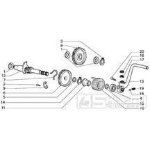 T6 Startovací mechanismus nožní - Gilera H@K 50ccm EBS od roku 2001 (VTBC33100...)
