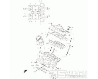 01h Hlava válce zadní - Hyosung GT 650i R