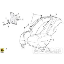 28.12 Zadní kapotáž - Scarabeo 100 4T E3 2010-2012 (ZD4VAA00..., ZD4VAC00...)