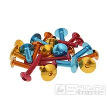 Eloxovaný inbusový šroubek 6 ks - v různých barevných provedeních