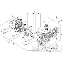 1.05 Skříň klikové hřídele - Gilera Runner 125 VX 4T Speciální série 2007 (ZAPM46300)