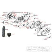 E01 Skříň klikové hřídele a kryt variátoru - Kymco People GT 300i