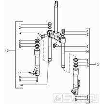 4.03 Přední kyvná vidlice (Kayaba) - Gilera Runner 125 ST 4T LC 2008-2012 (ZAPM46301)