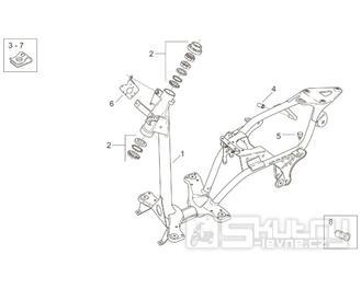 28.01 Rám - Scarabeo 100 2T (motor Yamaha) 2000 - ZD4RE0...