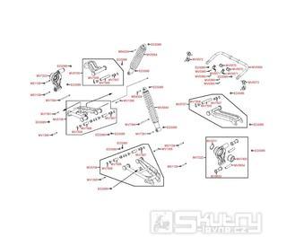 F17 Zadní ramena a odpružení - Kymco MXU 500 IRS DX LOF LAA0ED
