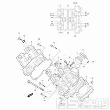 01v Hlava válce přední - Hyosung GT 650 S & R