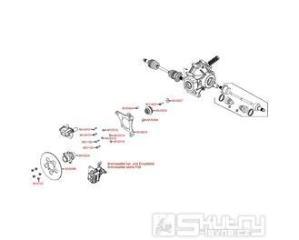 F18 Zadní brzda - Kymco MXU 500 IRS DX LOF LAA0ED