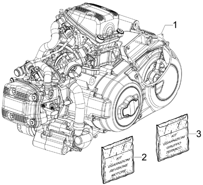 1.02 Motor - Gilera GP 800 2009-2011 (ZAPM5510...)