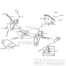 F03 Gripy / Zrcátka / Řidítka / Přední kapotáž - Kymco DJ 125 S KN25GA