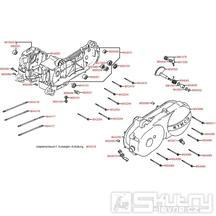 E01 Skříň klikové hřídele / kryt variátoru - Kymco Filly 50 4T