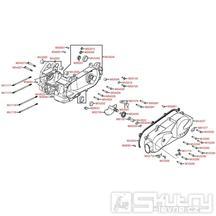 E01 Kliková skříň / Kryt variátoru - Kymco DJ 125 S KN25GA