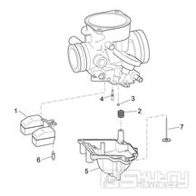 29.20 Karburátor - Scarabeo 100 4T E3 2006-2009 (ZD4VAA..., ZD4VAC...)