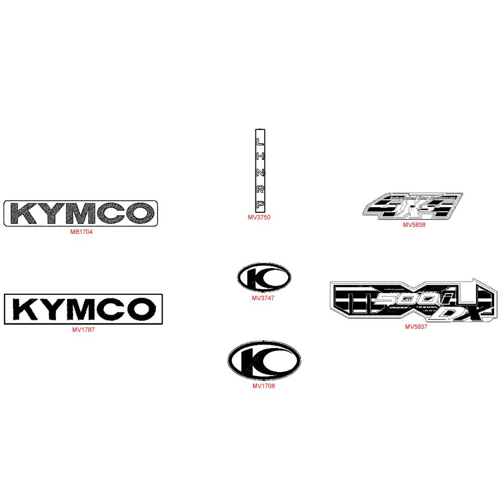 F26 Nálepky a tužka pro opravu laku - Kymco MXU 500 IRS DX LAA0DD