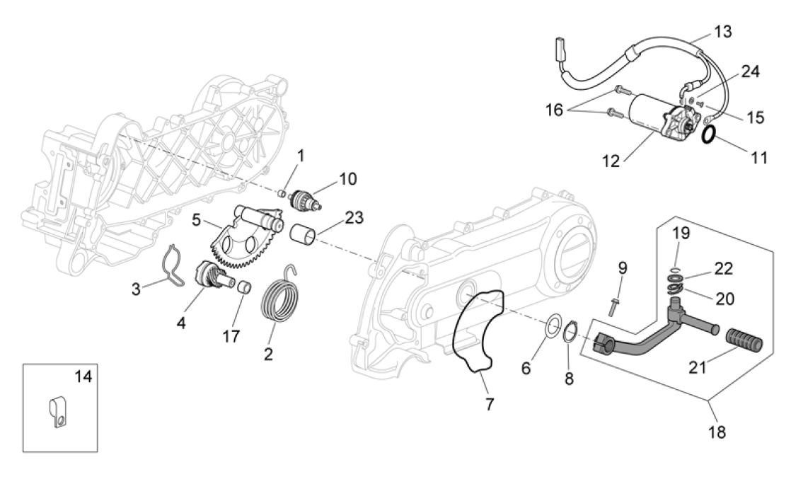 29.30 Startér motoru - Scarabeo 100 4T E3 2006-2009 (ZD4VAA..., ZD4VAC...)