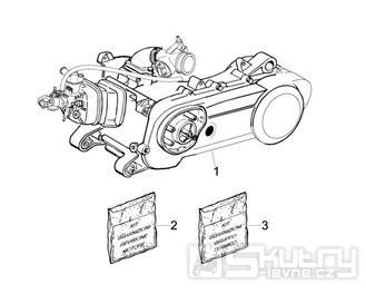 1.02 Motor, těsnění motoru - Gilera Runner 50 PureJet 2010-2011 (ZAPC46200)