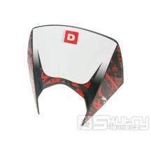 Přední maska světlometu černá s polepem pro Derbi Senda DRD Pro