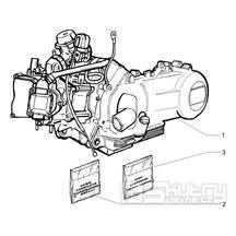 1.02 Motor, těsnění motoru - Gilera Runner 125 VX 4T 2005-2006 UK (ZAPM46100)