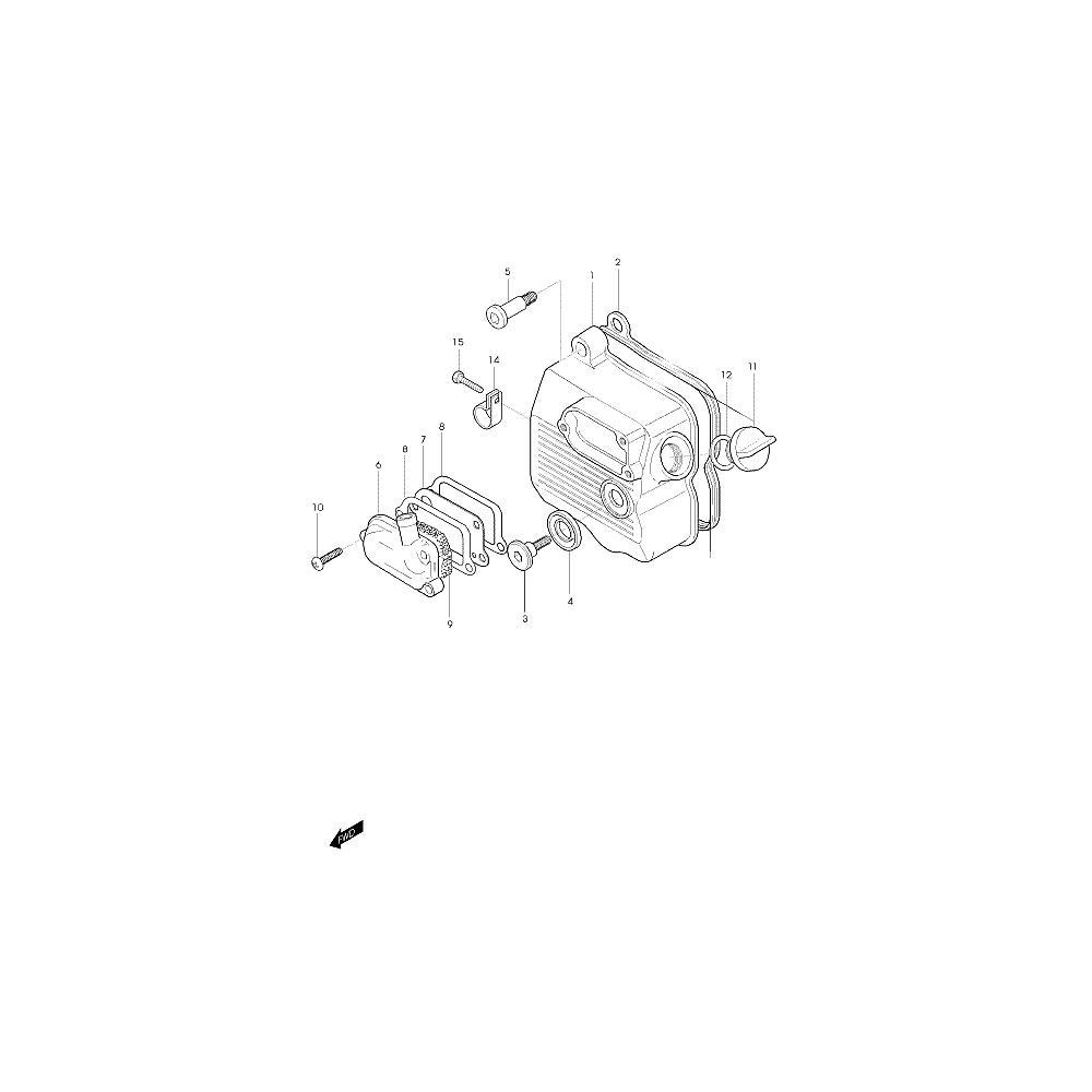 01 Kryt hlavy válce - Hyosung Hyper 125