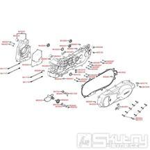 E01 Skříň klikové hřídele / kryt variátoru - Kymco People S 125