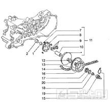 T9 Variátor, řemen variátoru - Gilera Runner 50 Poggiali do roku 2005 (ZAPC36200...)