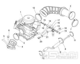 29.18 Karburátor - Scarabeo 50 4T 4V E2 2009 (ZD4TGE00)