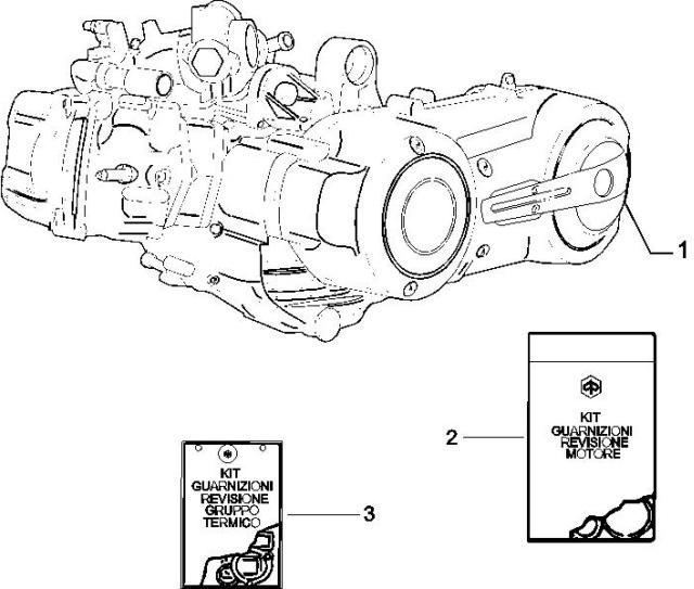 1.02 Motor, těsnění motoru - Gilera Nexus 500 SP 4T LC 2006-2007 (ZAPM35200)
