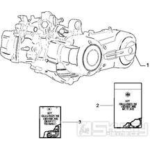 1.02 Motor, těsnění motoru - Gilera Nexus 500 4T LC 2006 UK (ZAPM35200)
