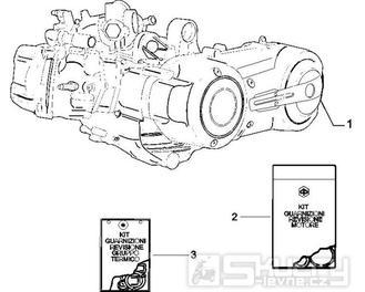 1.02 Motor, těsnění motoru - Gilera Nexus 500 4T LC 2006-2008 (ZAPM35200)
