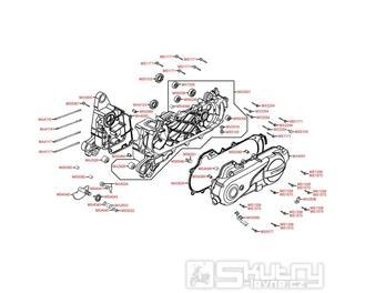 E01 Kliková skříň / kryt variátoru - Kymco Agility 50 RS 4T KG10S