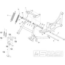 2.25 Hlavní a boční stojan - Gilera GP 800 2007-2008 (ZAPM5510...)