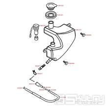 F12 Olejová nádrž - Kymco Vitality 50 2T