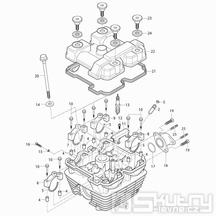 01 Hlava válce - Hyosung RX 125D E3