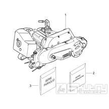 1.02 Motor, těsnění motoru - Gilera Stalker 50 2T 2008-2011 (ZAPC40100, ZAPC40101)
