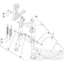 2.25 Hlavní stojan -  Gilera Fuoco 500ccm E3 2007-2013 (ZAPM61100...)