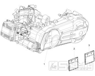 1.02 Motor - Gilera Fuoco 500ccm 4T-4V ie E3 LT od 2013 (ZAPM83100...)