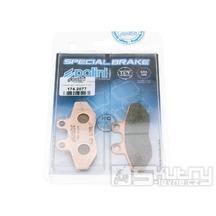 Brzdové destičky Polini slinuté pro MBK Flame a Yamaha Cygnus 125ccm
