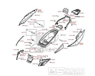 F12 Zadní kapotáž a úložný prostor pro přilbu - Kymco Grand Dink 125i SP25AA