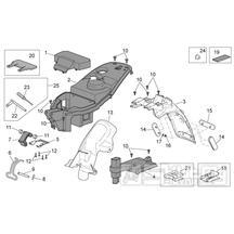 28.12 Plast pod sedačkou, zadní blatník - Scarabeo 50 4T 4V E2 2010-2012 (ZD4TGE00)