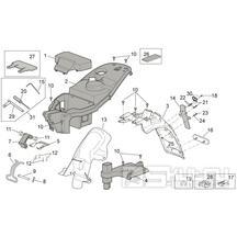 28.13 Plast pod sedačkou, zadní blatník - Scarabeo 100 4T E3 NET 2010 (ZD4VAC..., ZD4VAA...)