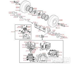 F08 Zadní kola, brzdy a zadní osa - Kymco MXU 250 R LG50AE/AD
