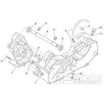29.32 Skříň klikové hřídele - Scarabeo 100 2T (motor Minarelli) 2000 - ZD4REA...