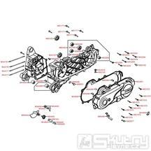 E01 Skříň klikové hřídele / Kryt variátoru - Kymco Agility 50 Carry 4T KG10DA
