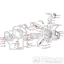 E02 Hlava válce / ventily - Kymco Agility 50 City 4T