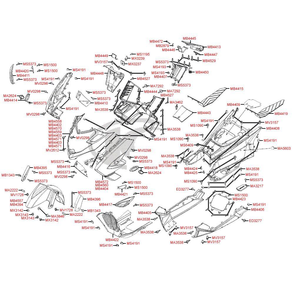 F05 Přední kapotáž - Kymco MyRoad 700i ABS SAADAB