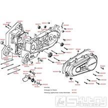 E01 Kryt variátoru / Skříň klikové hřídele - Kymco Dink 125 (Bet & Win)